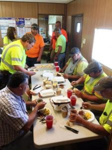 8-23-16 Mike Clem crew July safety suggestion lunch (2)